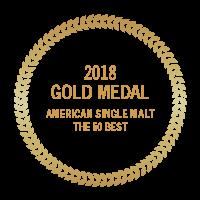 2018 Gold Medal 50 best american single malt gold