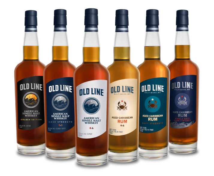 Old Line Spirits Single Malt Whiskey and Aged Rum