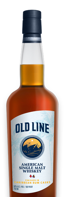 Old Line American Single Malt Whiskey Finished in Caribbean Rum Casks