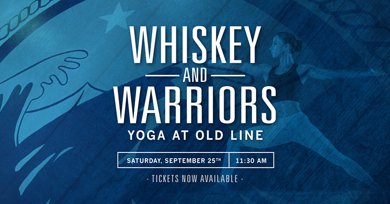 Whiskey and Warriors Yoga At Old Line Event