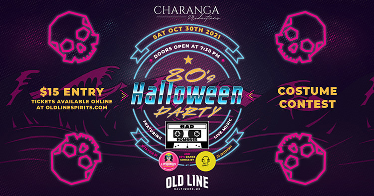 Facebook Event Graphic 80s Halloween Party At Old Line